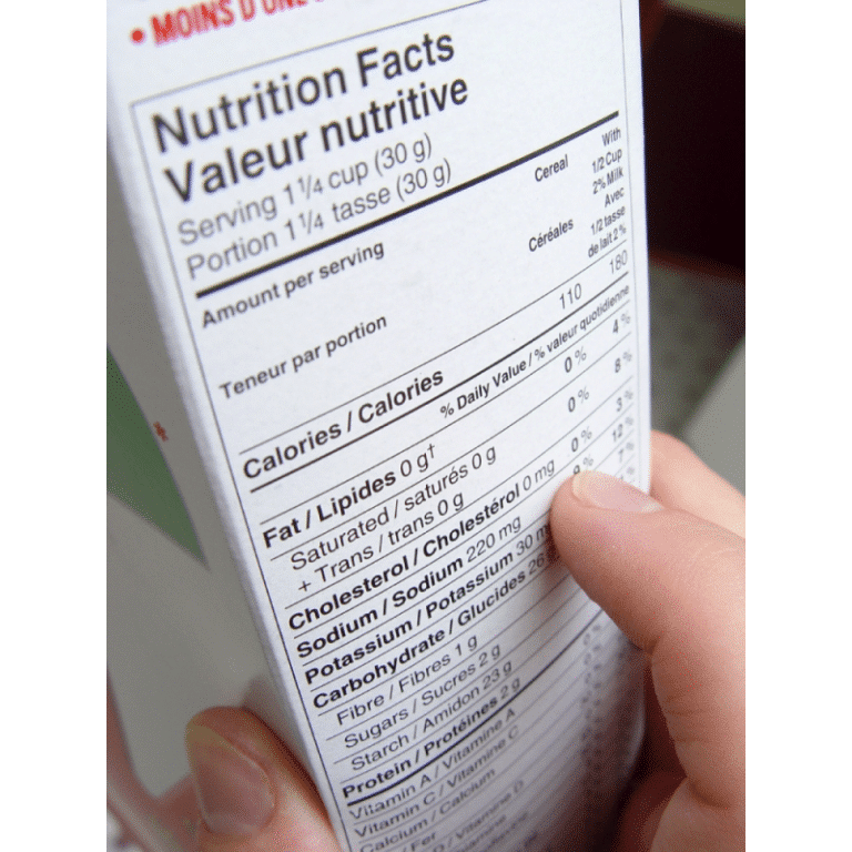 Étiquettes nutritionnelles 101