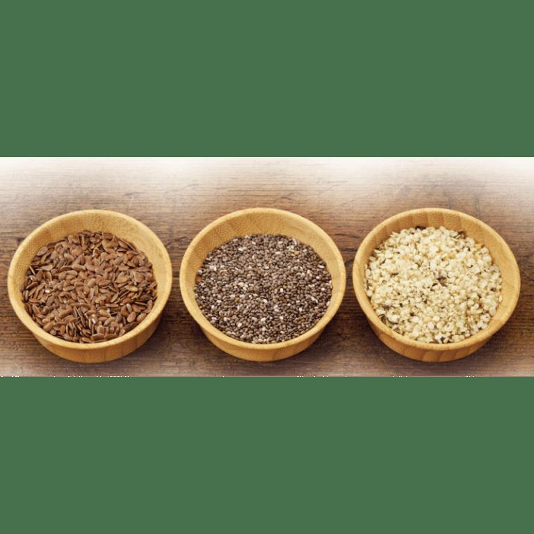 Graines de lin, de chia et de chanvre