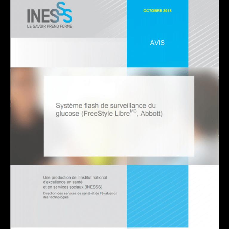 Recommandation de l'INESSS - FreeStyle Libre